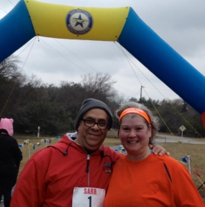 Hub & me at the finish line of the Cobweb Chaser 2013