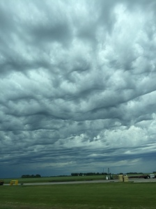 Storm clouds over the Minnesota plains